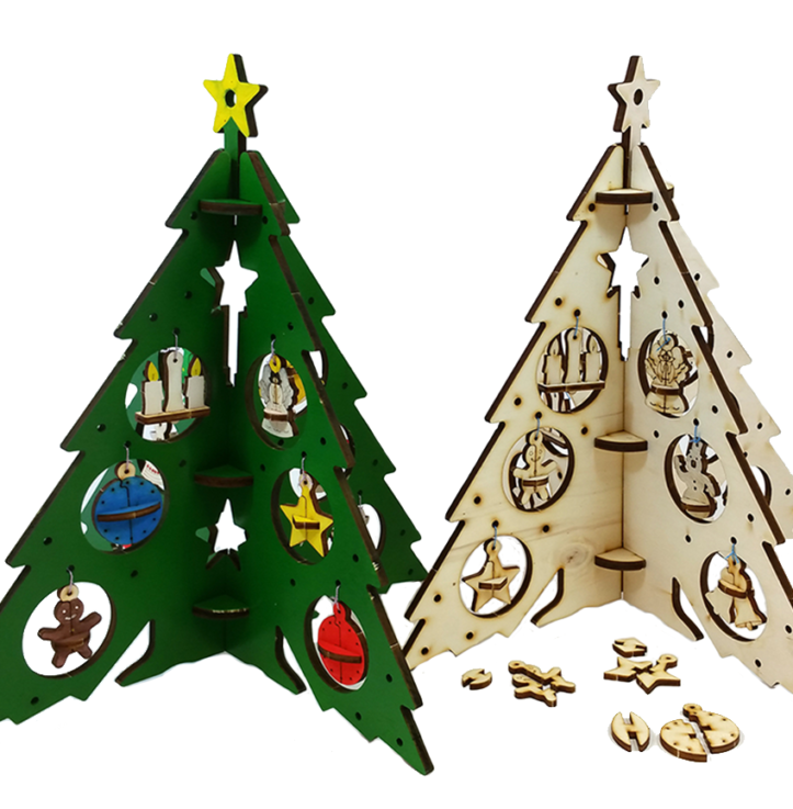 Christmas tree – with decorations/Large (DIY)