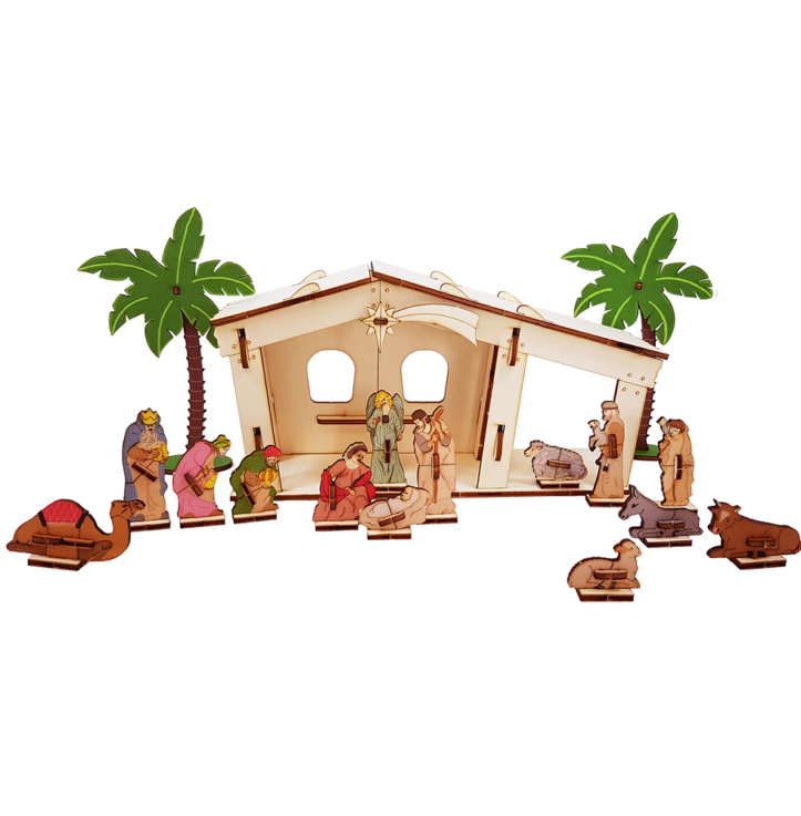 Nativity set + 16 items 3D/colored