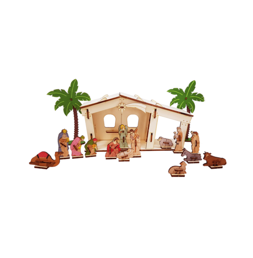 Nativity set + 16 items 3D/colored