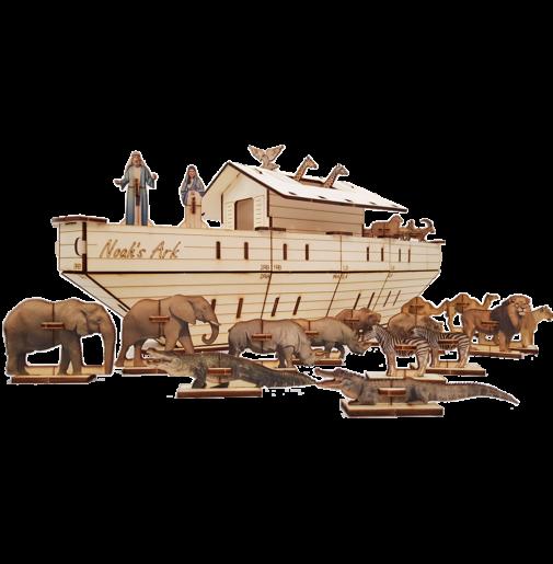 Noah's Ark – Set 3D / large 60cm colored
