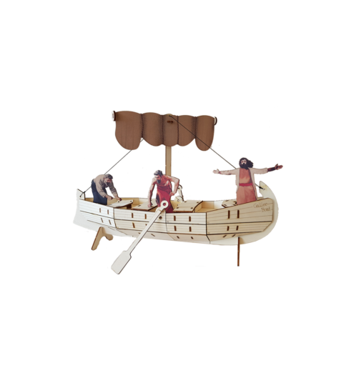 The ancient boat /Large colored – Sea of Galilee Boat