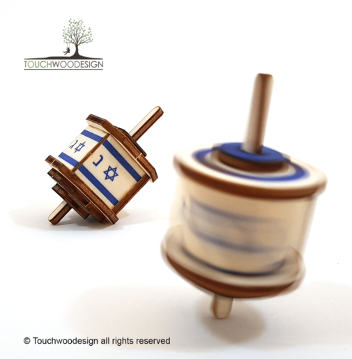 Dreidel – pack of 2 – small / colored