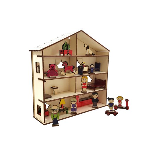 Family/ Doll's house set+20 figures /colored