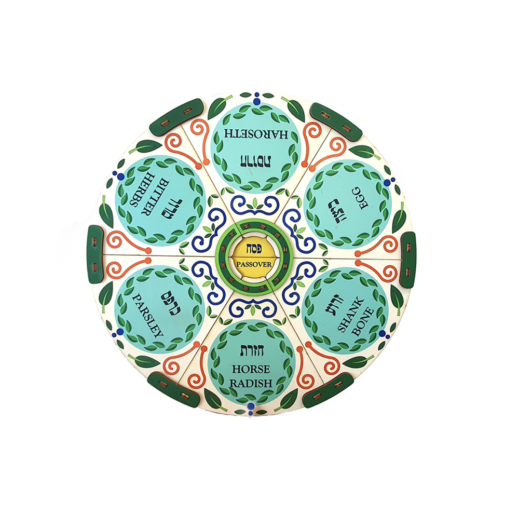 Passover Seder plate / colored