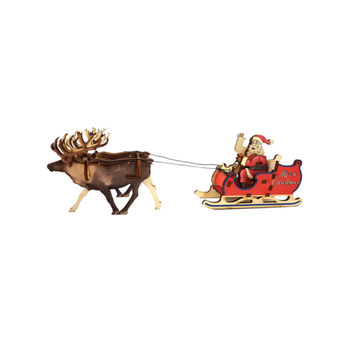 Santa Claus's Sleigh & Reindeers / colored