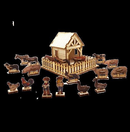 Animal Farm set + 18 animals