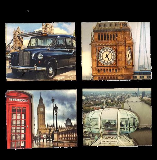 London – Magnets Set of 4