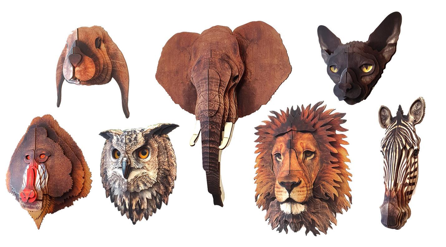 Animal 3D portrait