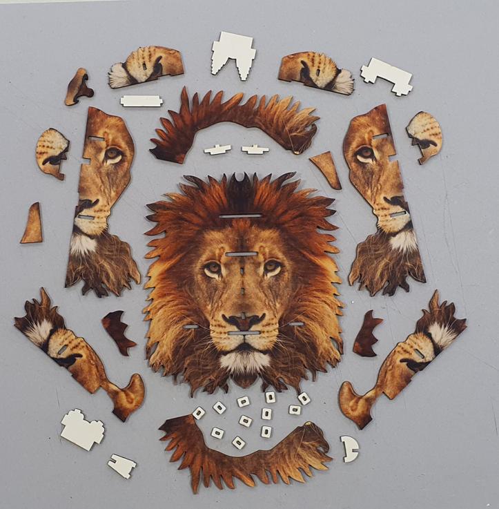 Lion 3D portrait