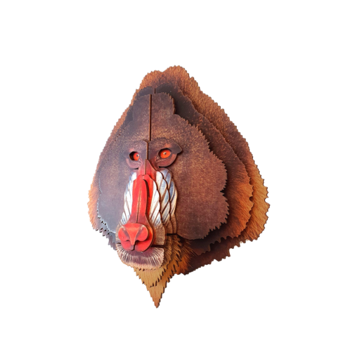 Mandrill 3D portrait