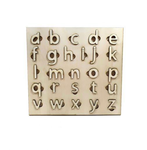 ABC Alphabet lowercase – Montessori – natural wood