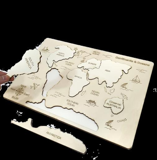 Continents & Oceans DIY