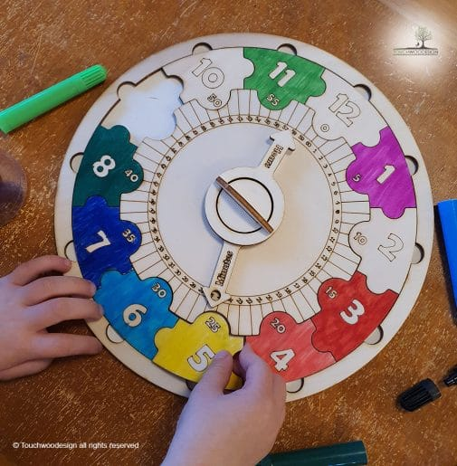 Learning Clock Puzzle DIY