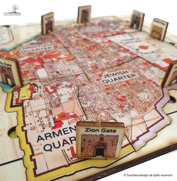 Map of Jerusalem – The Old City
